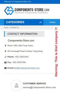 components-store.com złodziejska firma z Chin
