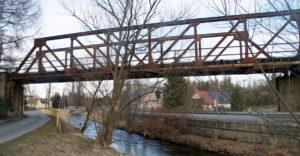 Odbudowa linii kolejowej do Karpacza - Łomnica, most na rzece Łomnica