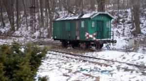 Odbudowa linii kolejowej do Karpacza - Karpacz, stacja, ostatni wagon